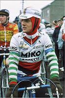 Le coureur cycliste Laurent Biondi, 1986