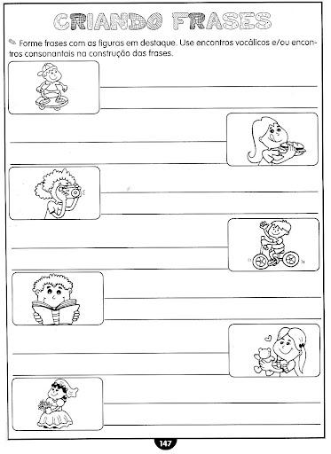 Tipos De Frases Exercícios Atividades 3 4 5 Anos Para Imprimir