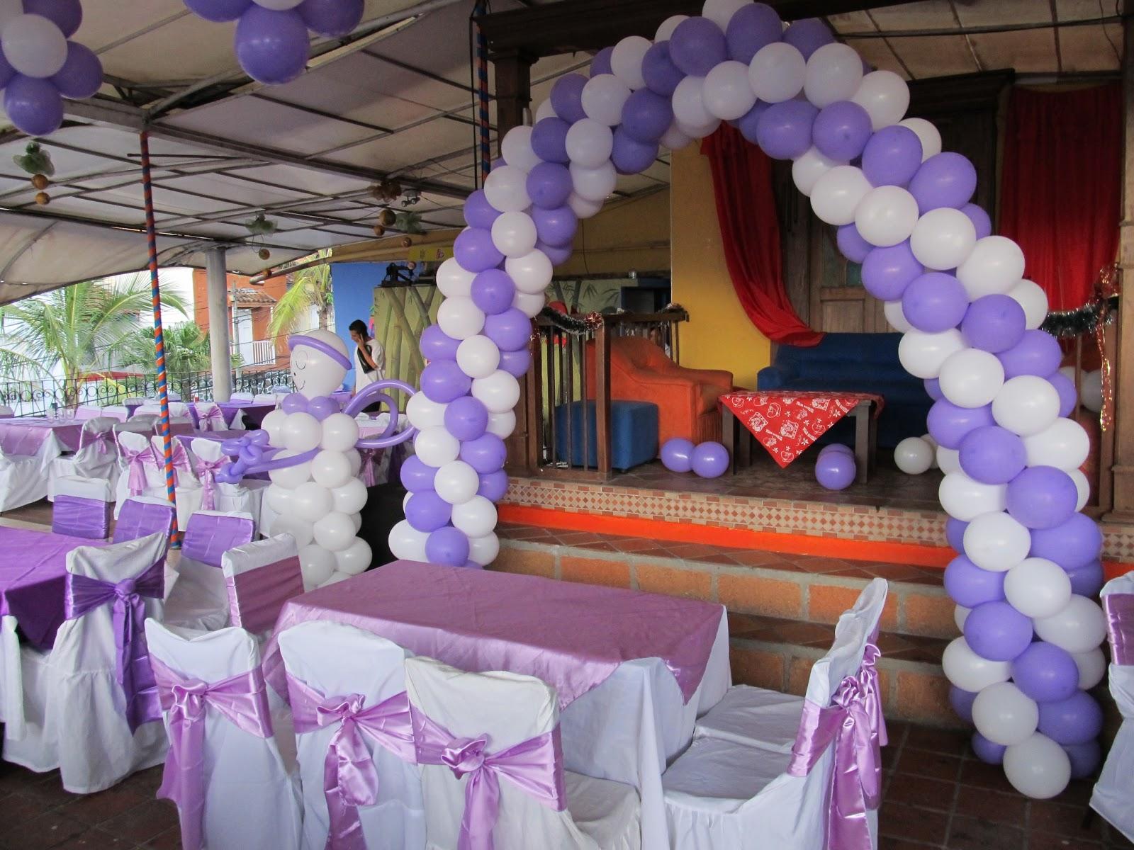 Decoracion para comunion con globos / Senderismo gps