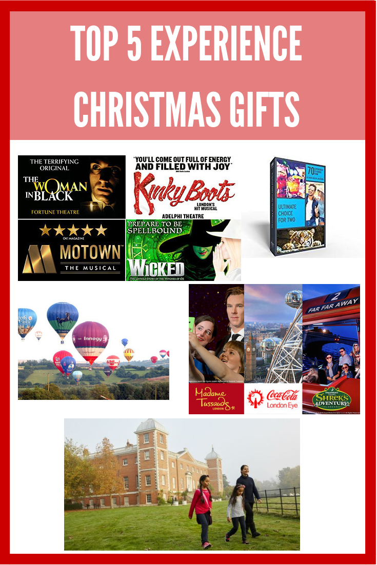 Top 5 - Experience Christmas Gifts | Alice Megan