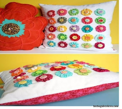 Kreasi bantal hias dari kain perca - berbagaireviews.com