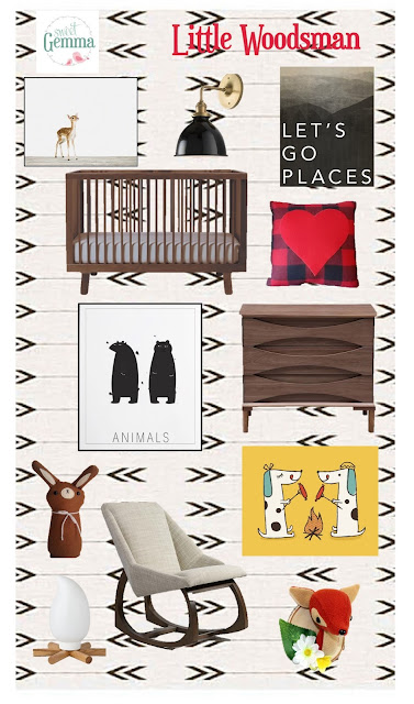 Sweet Gemma Little Woodsman Boy's Nursery Inspiration