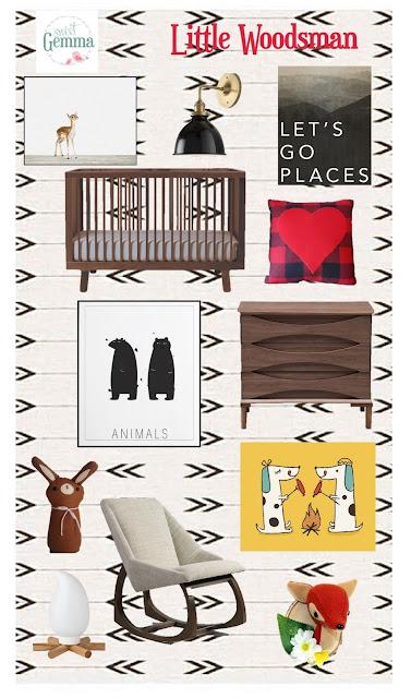 Sweet Gemma Little Woodsman Boy's Nursery Inspiration