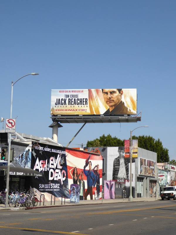 Jack Reacher 2 movie billboard