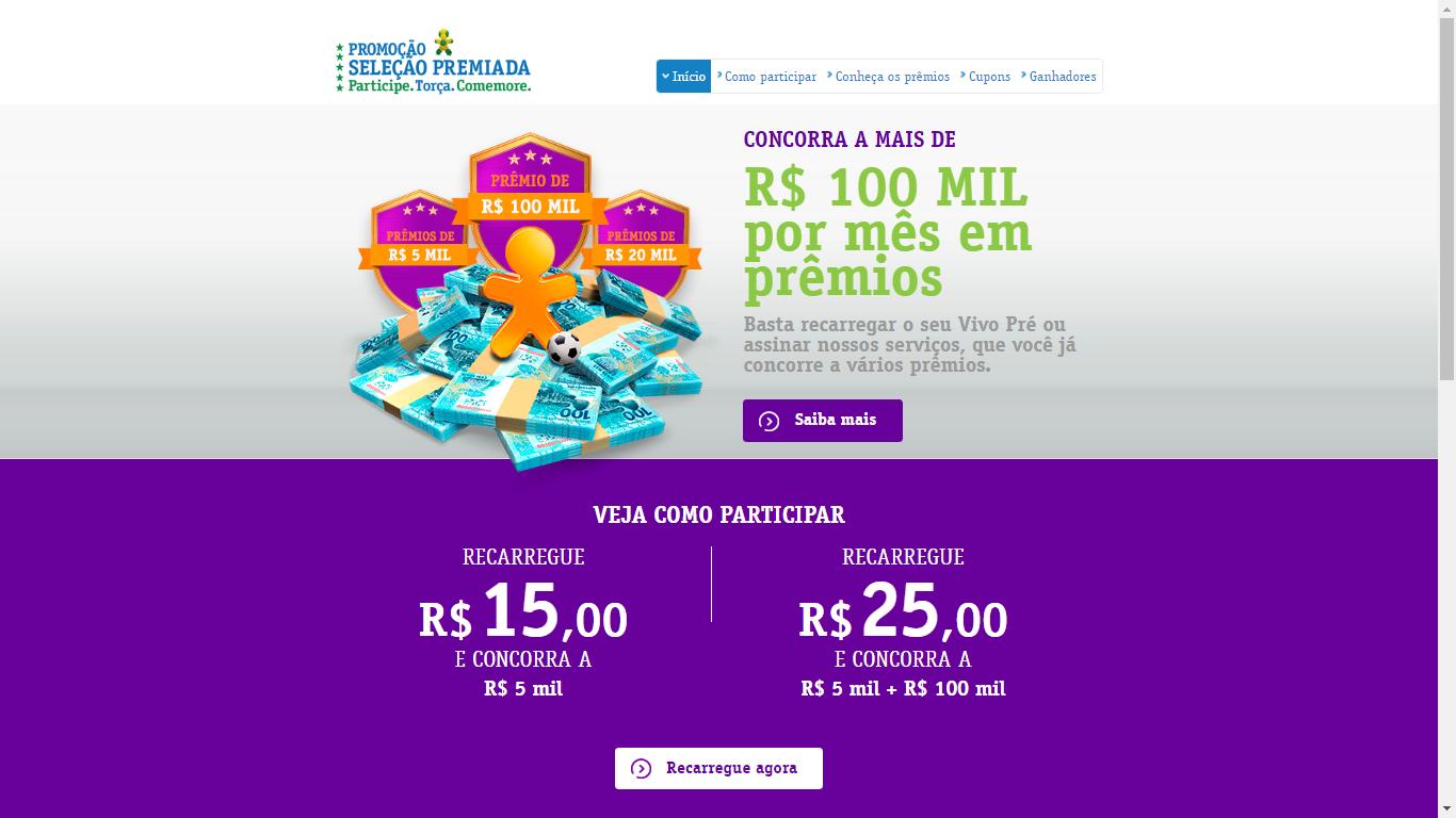 07 2016 - Seleção Premiada é uma promoção na qual clientes pré-pago 71eb217dcc83c