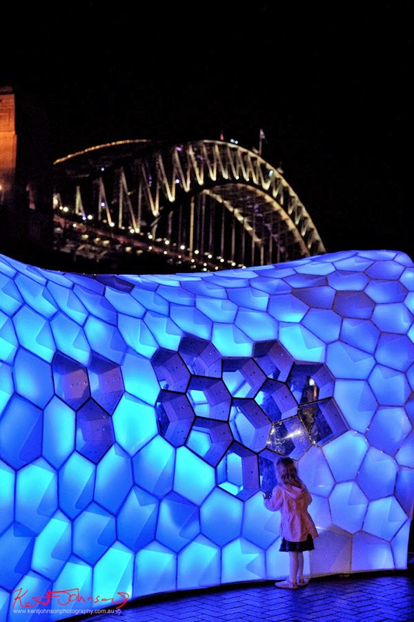 Cellular Tessellation by Knapp, Nelson, Parsons 2014. Sydney Harbour Bridge in the background.