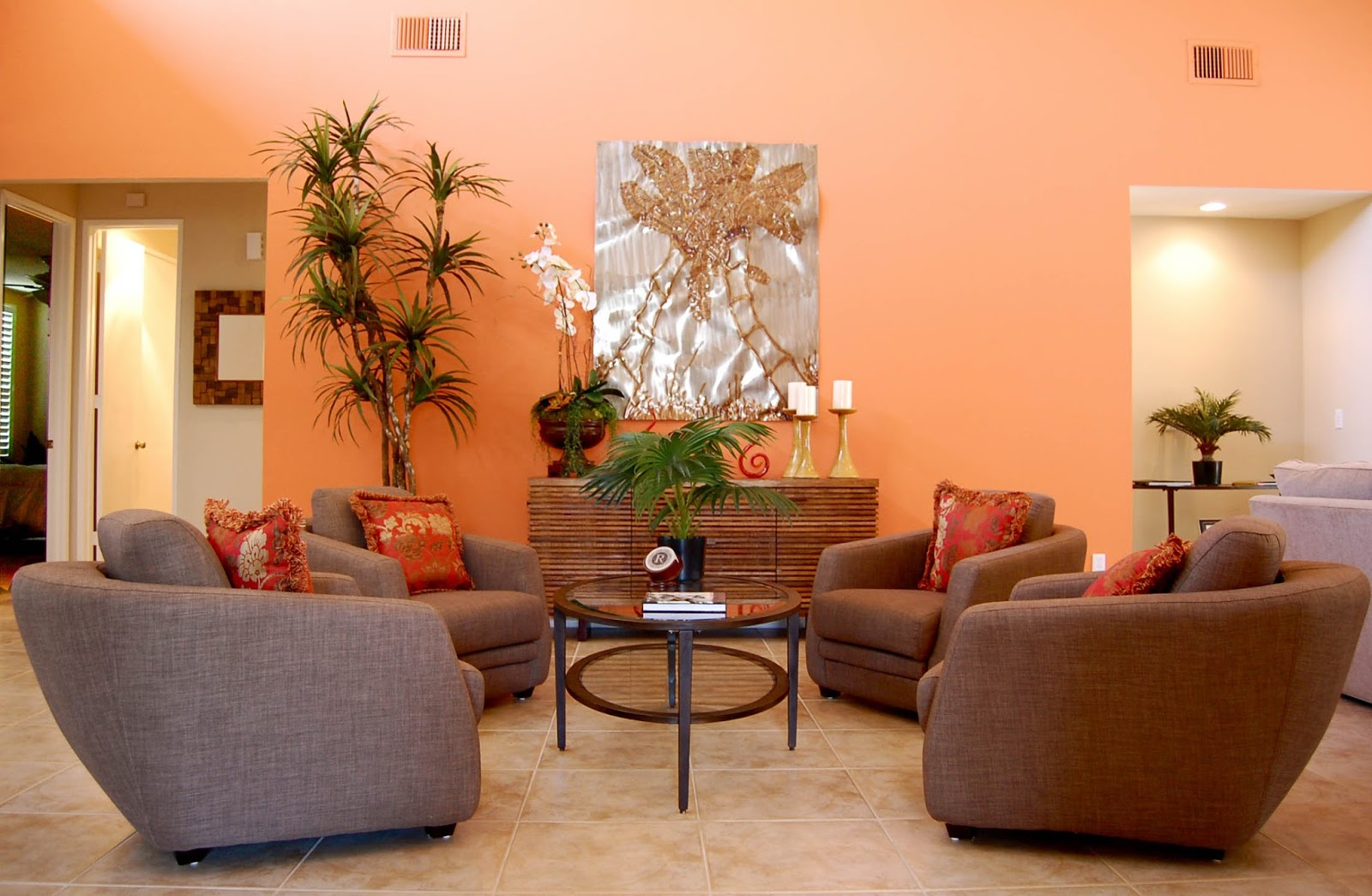 Light Orangea Juicy Cantaloupe Color That Makes Everyone Delighted This Kind Of Is A Tropical Punch And Warm Up Your Living Room
