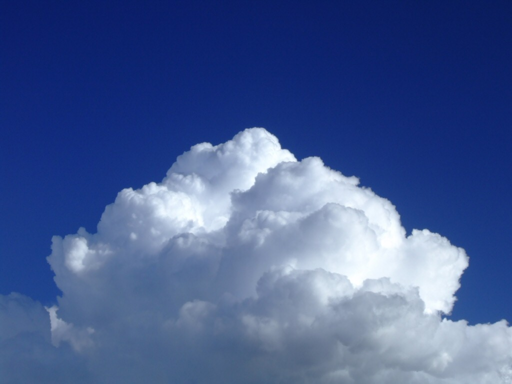 White Cloud In Blue Sky