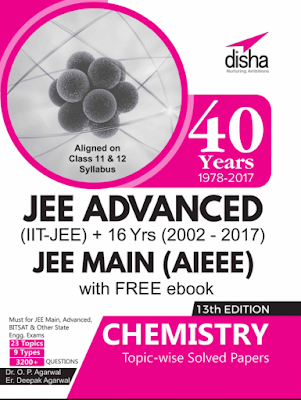 Chemistry previous year 40 year JEE solved papers by disha publications