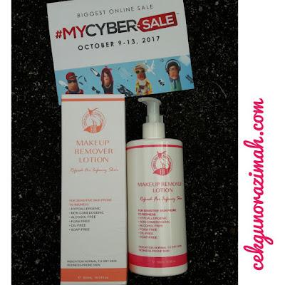 MYCYBERSALE, produk ERH, jualan murah sempena MYCYBERSALE, review ERH, Makeup Remover Lotion Pink, ERH Make Up Remover, sel ultimate blackhead killer dari ERH