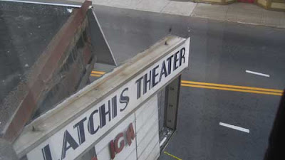 Close up of the damaged marquee