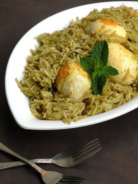 Anda Pudhina Pulao, Egg Mint Pulao
