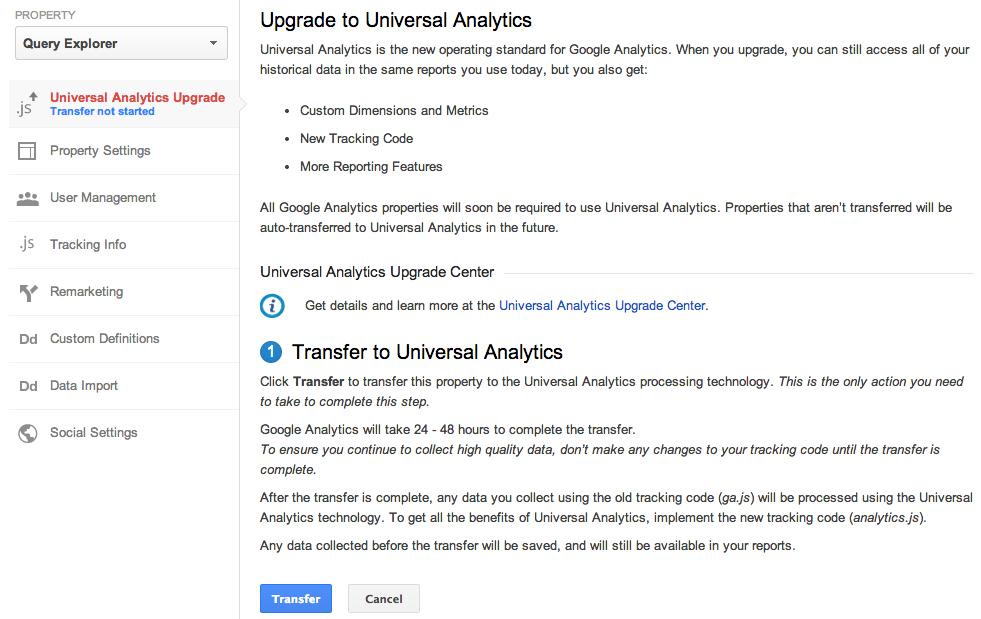 Universal Analytics Update