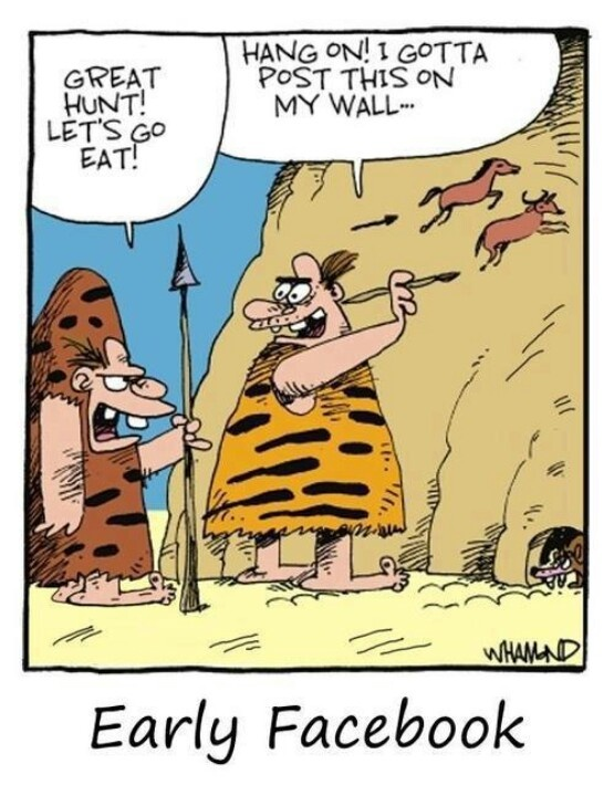 Funny Early Facebook Cartoon Picture