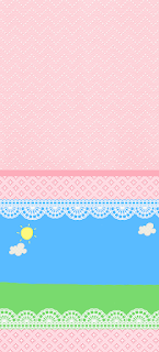 Country field with Pink Lace Free Printable  Labels.
