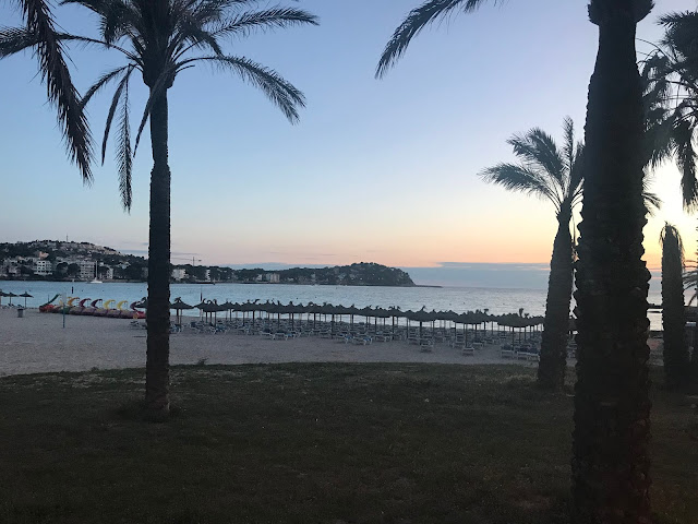 Santa Ponsa Beach in Majorca sunset 2018
