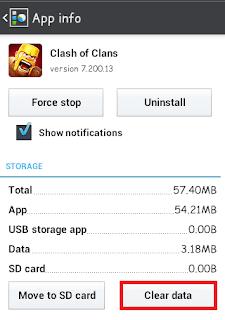 menghapus cache aplikasi android