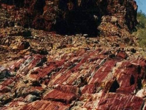 Sedimentos de Marble Bar, al noroeste de Australia.