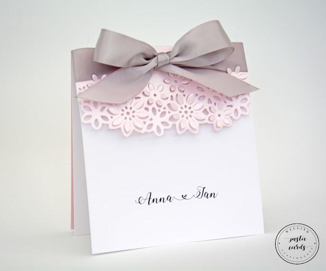 Ażurowe kwiaty – Pink & Silver
