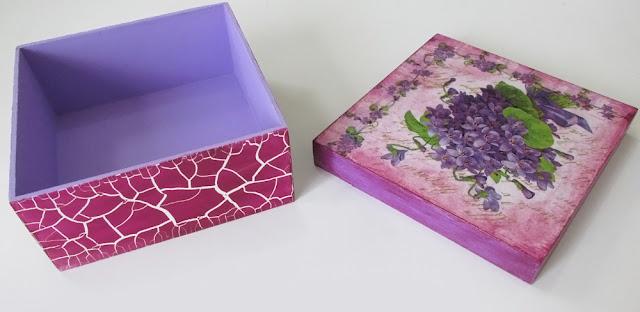 DIY: Como Fazer Caixa Decorada em MDF - Efeito Craquelado e Decoupage