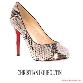 Crown Princess Mary wore CHRISTIAN LOUBOUTIN Python Pumps