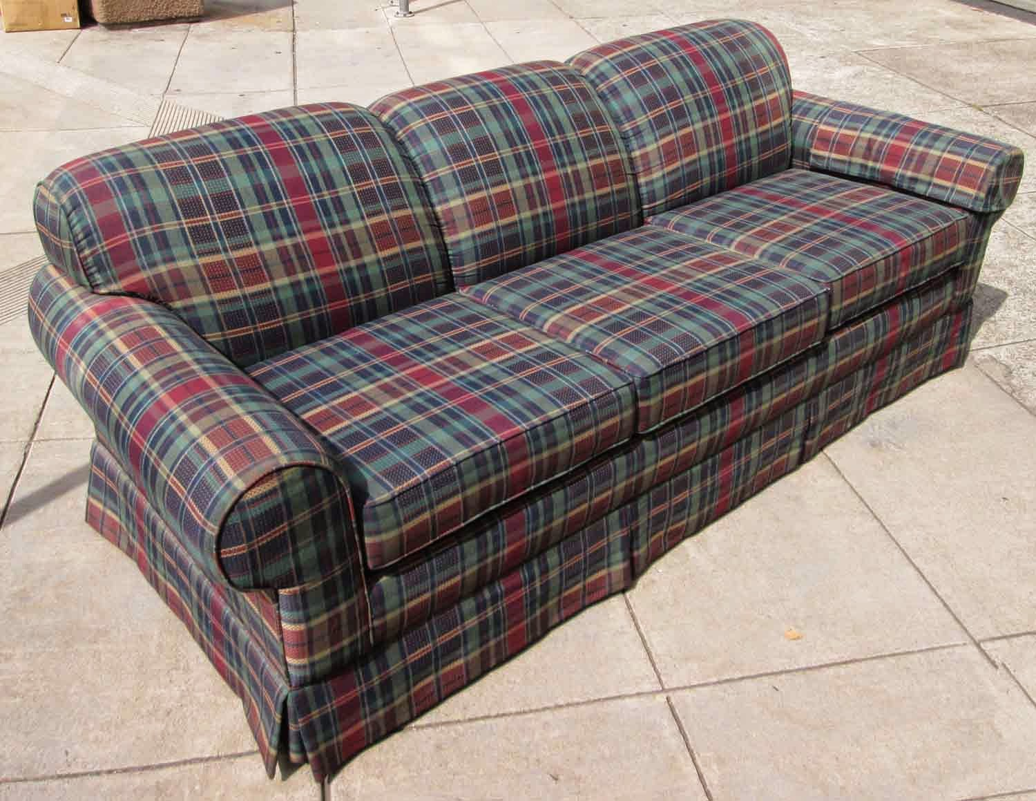 UHURU FURNITURE & COLLECTIBLES: SOLD Mad About Plaid Sofa