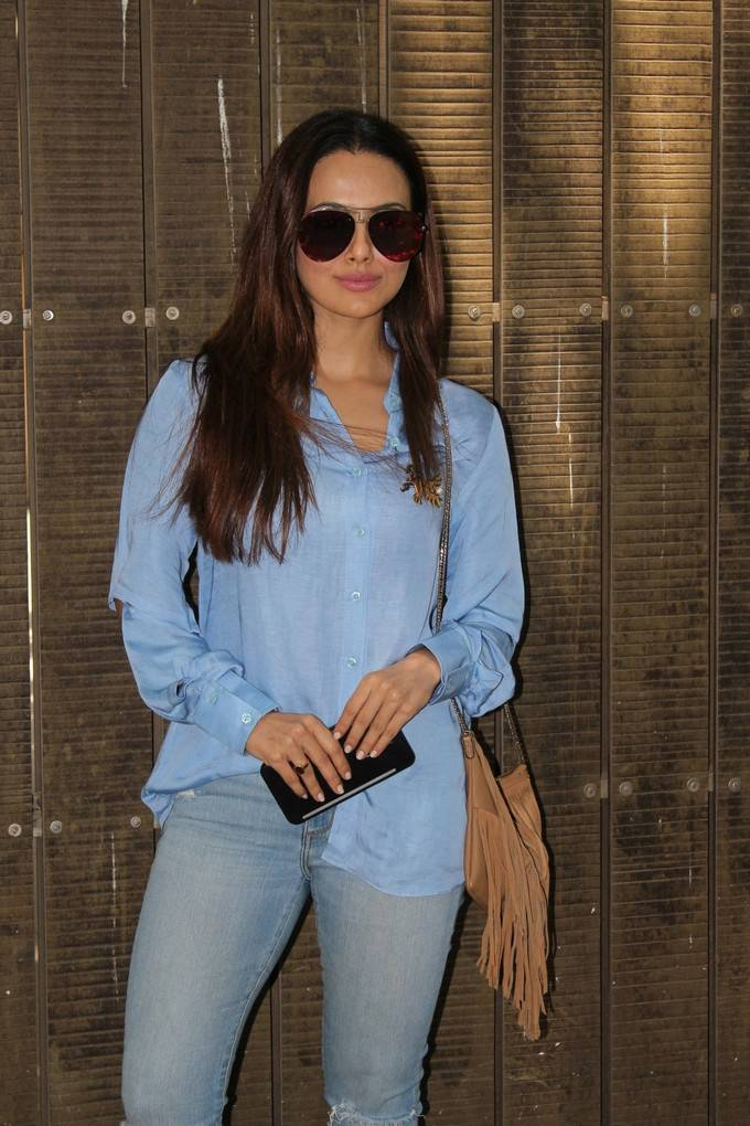 Sana Khan At Toilet Ek Prem Katha Dubbing Session Stills