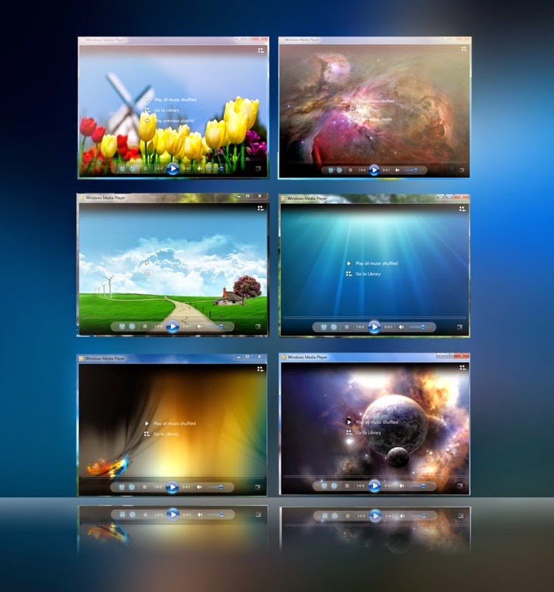 windows media player background