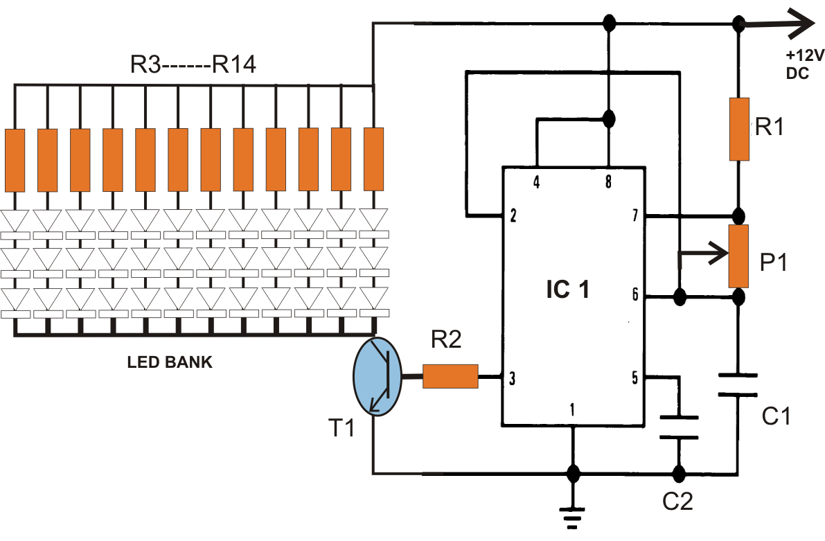 wiring diagram led spotlights mercury smartcraft gauges automatic 40 watt solar street light circuit project