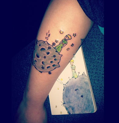 Tatuajes de El Principito : Tatuaje tapa libro El Principito