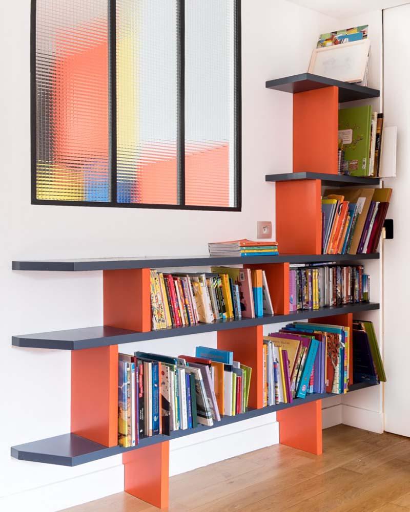 25 biblioth ques sur mesure pour trouver l 39 inspiration. Black Bedroom Furniture Sets. Home Design Ideas