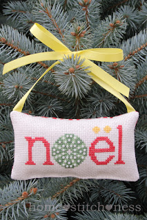 Free Noel Cross Stitch Sea Urchin Christmas Decoration Design New Zealand Australia