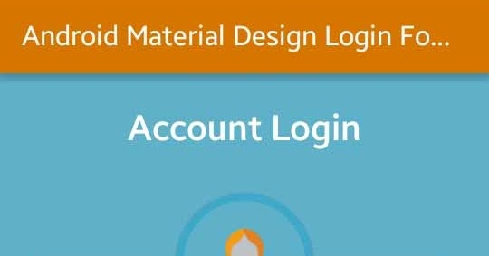 Android Material Design Login Form XML UI Design | Viral Android