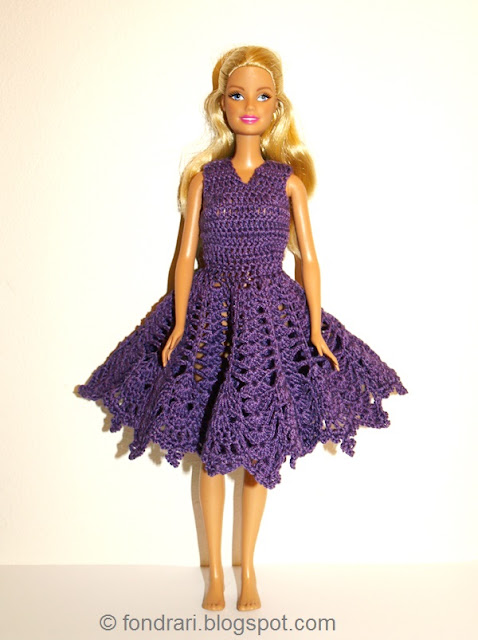 Fjólublár Barbie kjóll