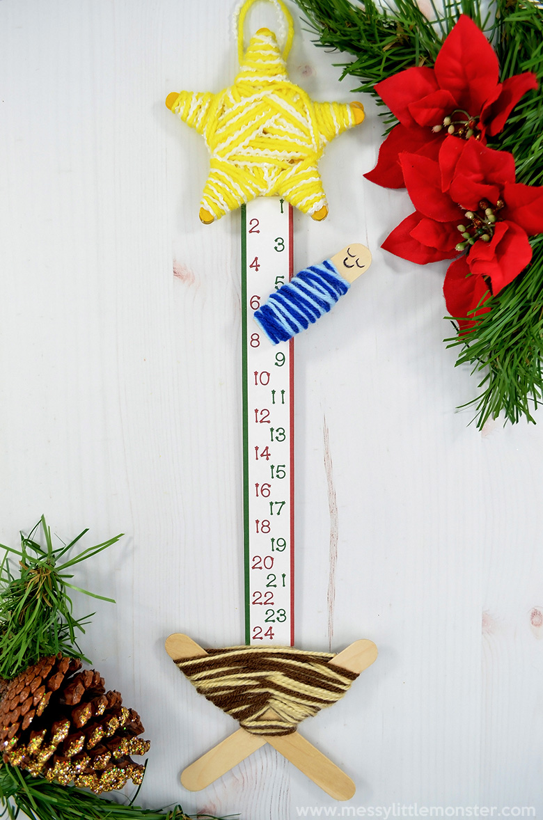 Christmas crafts for kids. Countdown to Christmas advent calendar