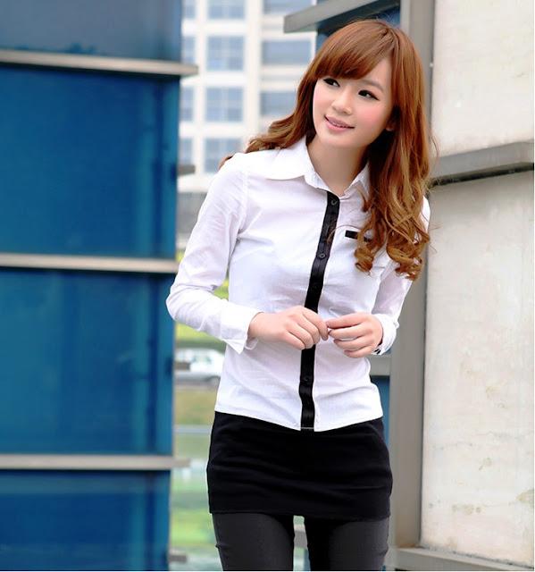 Model Baju Kemeja Kasual Warna Putih Terbaru