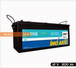 inci akü marin tekne gemi yat serisi 12 volt 200 amper