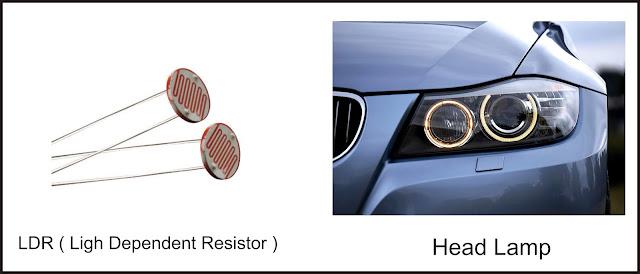 Aplikasi Resistor LDR   pada mobil