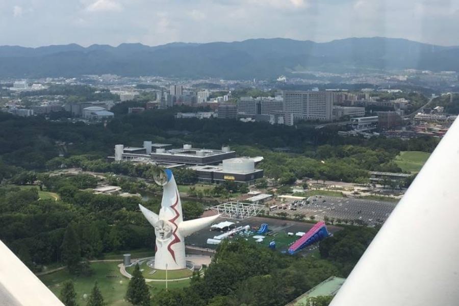 観覧車OSAKA WHEELから見た景色