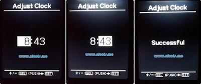 Setting jam di MID Suzuki Ignis