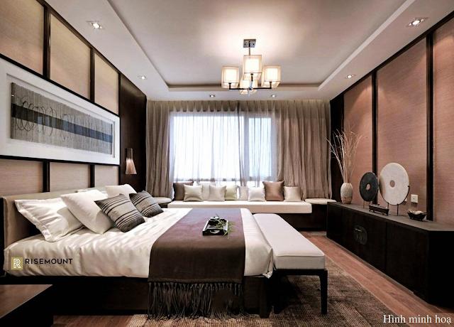 phòng ngủ căn hộ dự án Movenpick