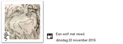 wolf met moed
