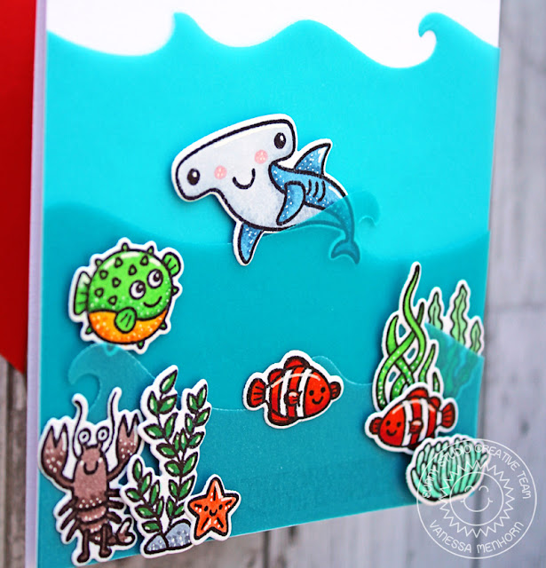 Sunny Studio Stamps: Best Fishes Catch A Wave Dies Magical Mermaids Summer Themed Cards by Vanessa Menhorn and Anja Bytyqi