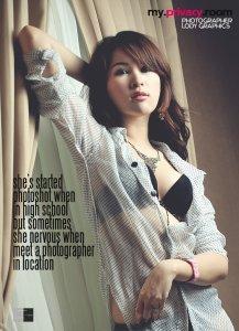 Foto Sherly Himawan di majalah