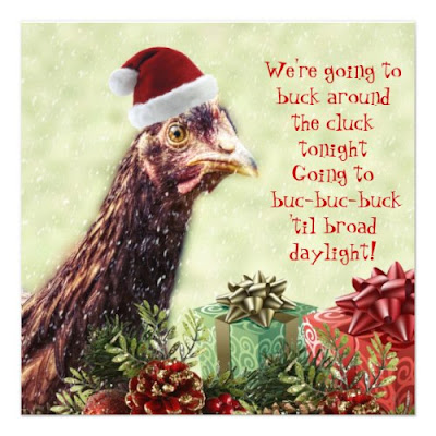 Poultry Farm Santa Chicken - Christmas Party Invite