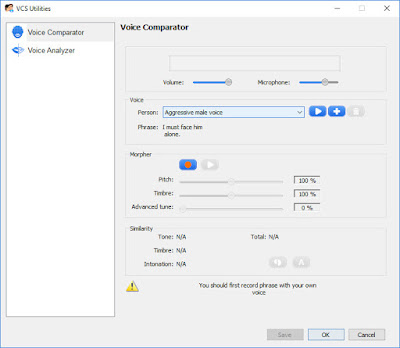 Voice Changer Software - Voice Comparator
