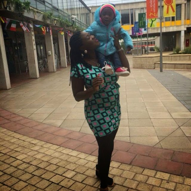 Photos: Pregnant Mercy Johnson In London UK…Check Out Her