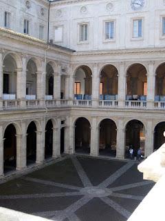Before 1935, Rome University's base was in the Palazzo della Sapienza, near Piazza Navona