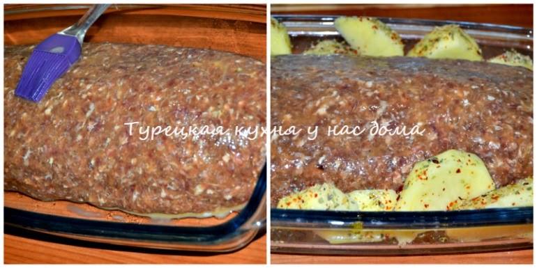 мясной рулет с начинкой