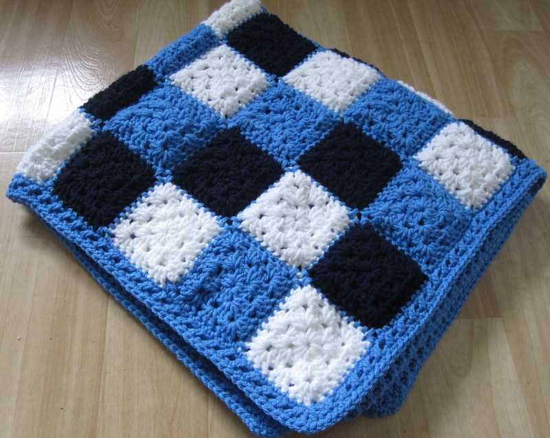 Crochet Therapy Colour Block Blanket